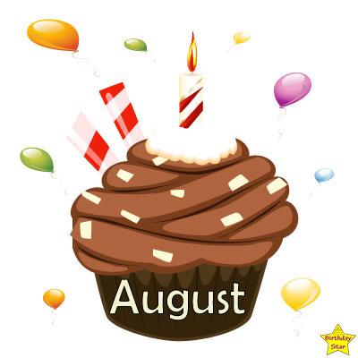 Birthday Cupcake Clipart August