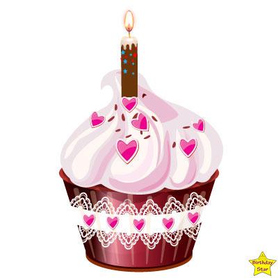 Birthday Cupcake Clipart Classic Design