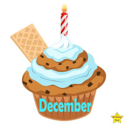 Birthday Cupcake Clipart December