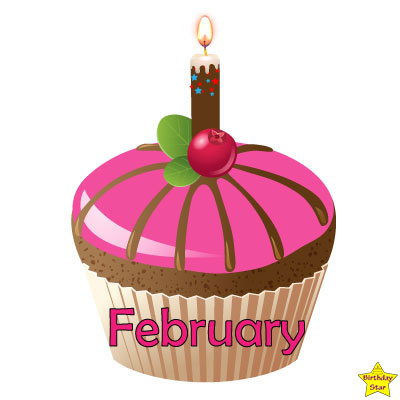 Birthday Cupcake Clipart February