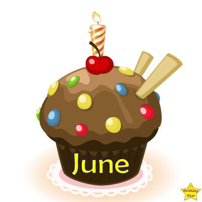 Birthday Cupcake Clipart June