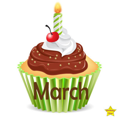 Birthday Cupcake Clipart March