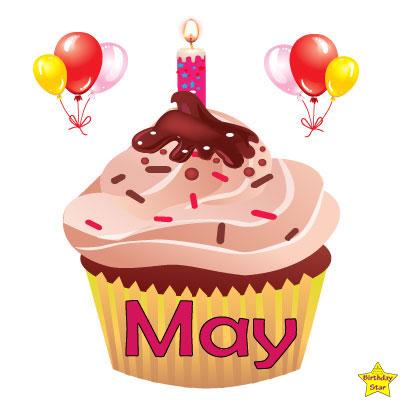 Birthday Cupcake Clipart May