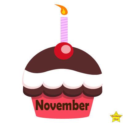 Birthday Cupcake Clipart November