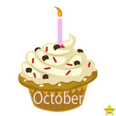 Birthday Cupcake Clipart October