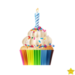 Birthday Cupcake Clipart PNG