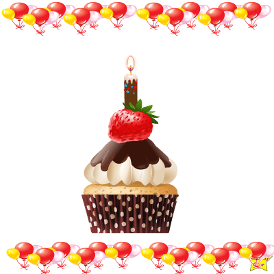Birthday Cupcake Clipart PNG Brown Cake