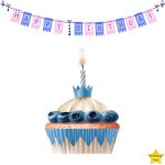Birthday Cupcake Clipart PNG Free