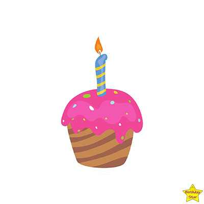Birthday Cupcake Clipart Pink Color