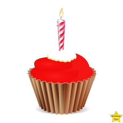 Birthday Cupcake Clipart Red brown