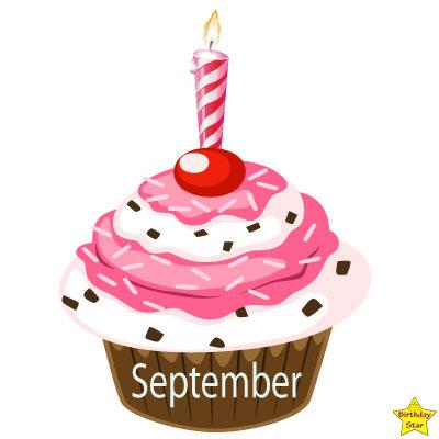 Birthday Cupcake Clipart September