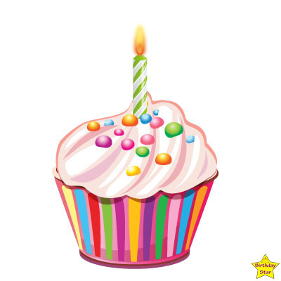 Birthday Cupcake Clipart With gems