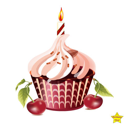 Birthday Cupcake Clipart