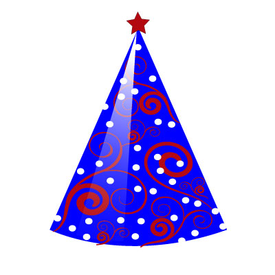 Birthday Hat Clipart Blue