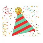 Birthday Hat Clipart poppers