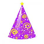Birthday Hat Clipart purple cool design