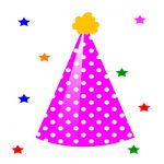 Birthday Hat Clipart with stars