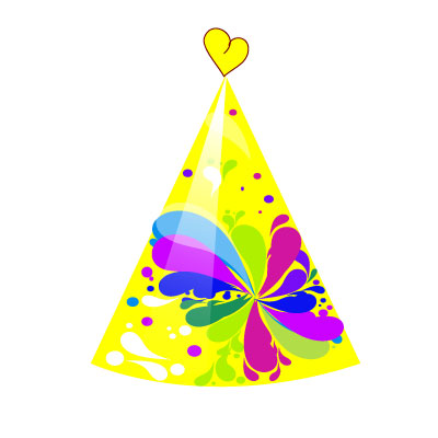 Birthday Party Hat Clipart Heart on the top