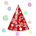Birthday Party Hat Clipart Marroon