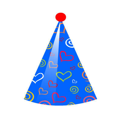 Birthday Party Hat Clipart heart shapes