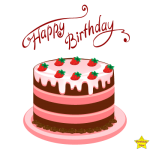 Free happy birthday cake clipart