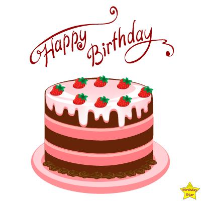 Free happy birthday cake clipart