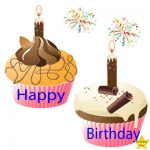 Happy Birthday 2 Cupcake Clipart