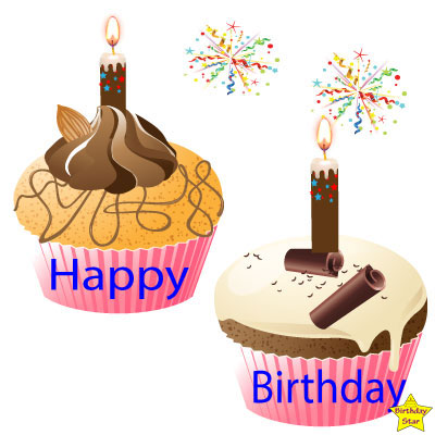 Happy Birthday 2 Cupcake Clipart