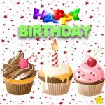 Happy Birthday 3 Cupcake Clipart