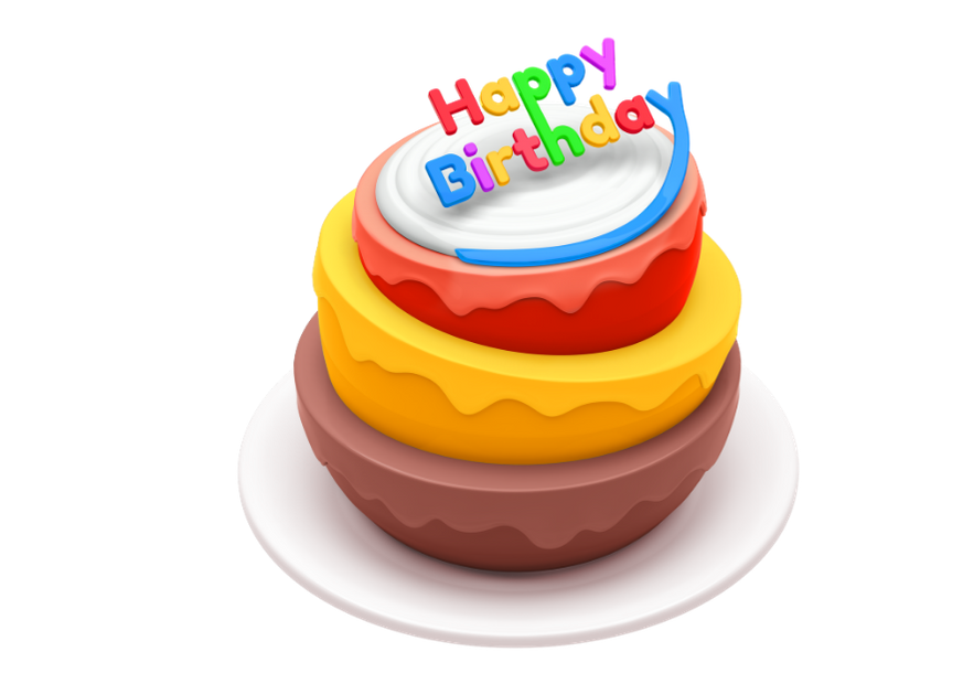 Happy Birthday 3D Cake Clipart Images
