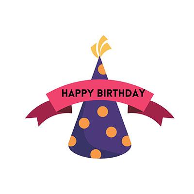 Happy Birthday Cap Clipart
