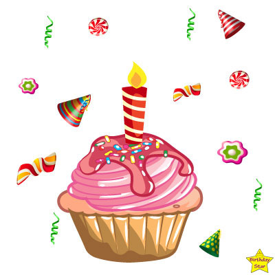 Happy Birthday Cupcake Clipart Party