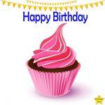 Happy Birthday Cupcake Clipart Pink