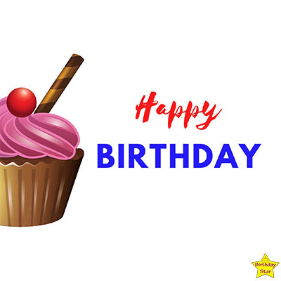 Happy Birthday Cupcake Clipart Without candle chocolate