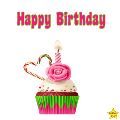 Happy Birthday Cupcake Clipart transparent
