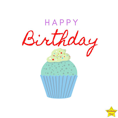 Happy Birthday Cupcake Clipart without candle