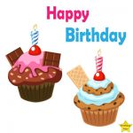 Happy Birthday Two Cupcake Clipart Chocolate