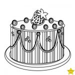 Happy birthday cake clipart black and white strawberry