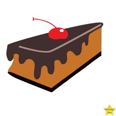 Happy birthday cake slice clipart chocolate