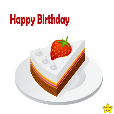 Happy birthday cake slice clipart free