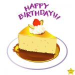 Happy birthday cake slice clipart images
