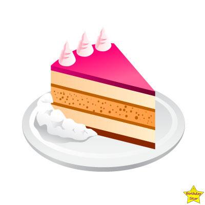 Happy birthday cake slice clipart tasty