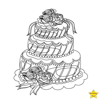 birthday cake clipart black and white free