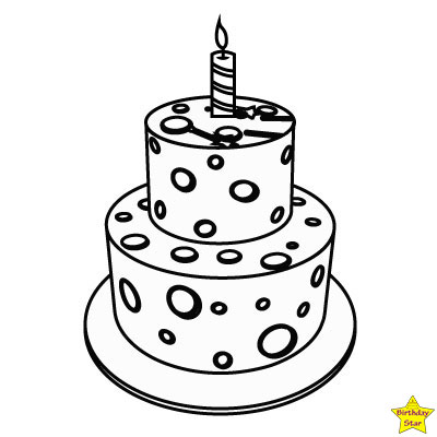 birthday cake clipart black