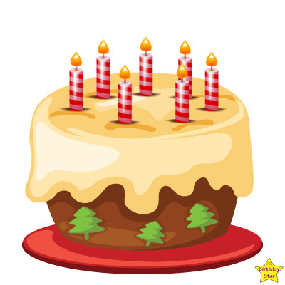 birthday cake with 8 candles clipart