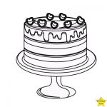 birthday cake without candles clipart black and white