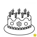 black and white birthday cake clipart