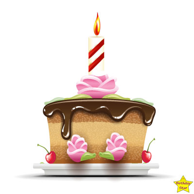clipart birthday cake with candles
