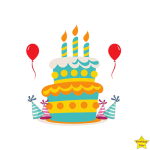 happy birthday cake clipart free