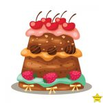 happy birthday cake clipart free download